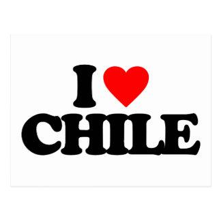 AMO CHILE TARJETA POSTAL