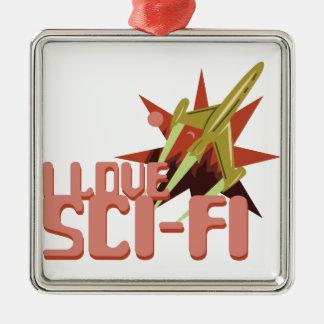 Amo ciencia ficción adorno de cerámica