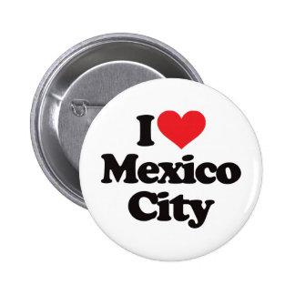 Amo Ciudad de México Chapa Redonda De 5 Cm