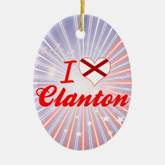 Amo Clanton, Alabama Adorno Navideño Ovalado De Cerámica