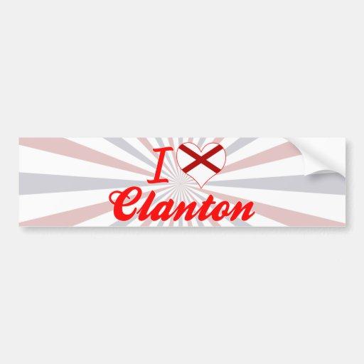 Amo Clanton, Alabama Pegatina De Parachoque