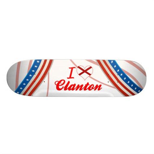 Amo Clanton, Alabama Patineta Personalizada