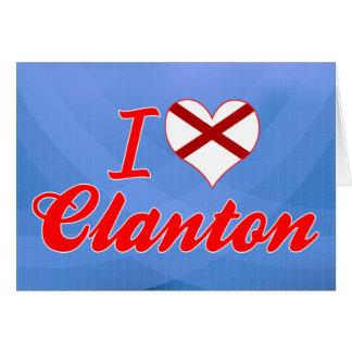 Amo Clanton, Alabama Tarjeta De Felicitación