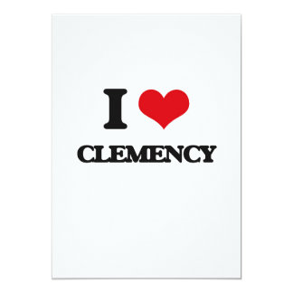 Amo clemencia invitación 12,7 x 17,8 cm