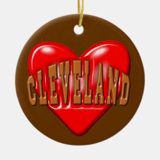 Amo Cleveland Adorno De Cerámica