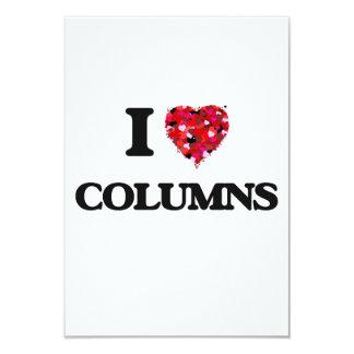 Amo columnas invitación 8,9 x 12,7 cm