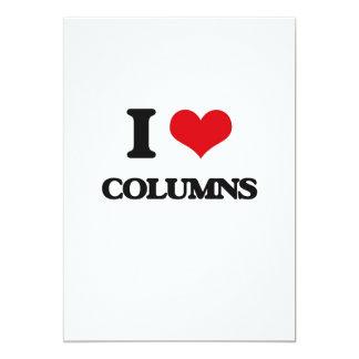 Amo columnas invitación 12,7 x 17,8 cm