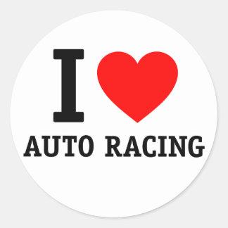 Amo competir con auto etiquetas redondas