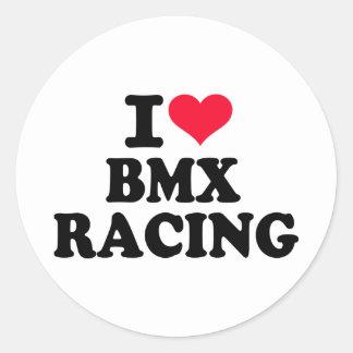 Amo competir con de BMX Pegatina Redonda