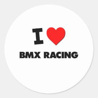 Amo competir con de Bmx Etiquetas Redondas