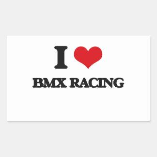 Amo competir con de Bmx Rectangular Pegatina