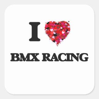 Amo competir con de Bmx Pegatina Cuadrada