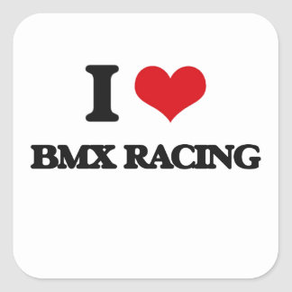 Amo competir con de Bmx Calcomanías Cuadradass