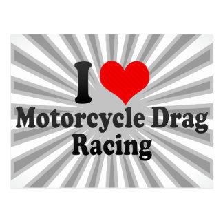 Amo competir con de la fricción de la motocicleta postal