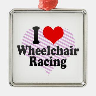 Amo competir con de la silla de ruedas ornamento de reyes magos