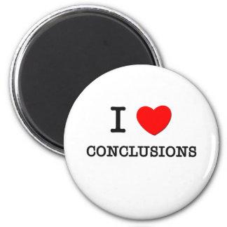 Amo conclusiones iman de nevera