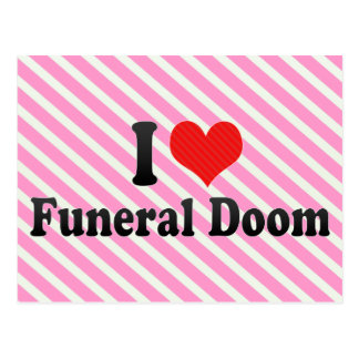 Amo condenación fúnebre postales