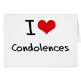 Amo condolencias tarjeta de felicitación