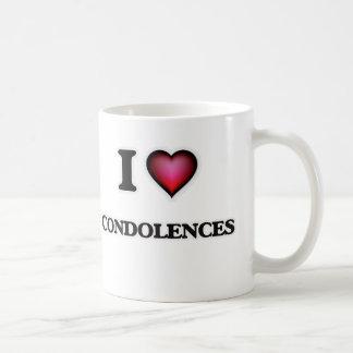 Amo condolencias taza de café