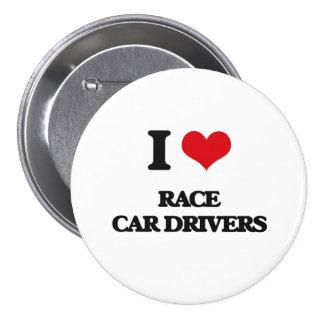 Amo conductores de coche de carreras pins