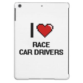 Amo conductores de coche de carreras funda para iPad air