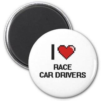 Amo conductores de coche de carreras imán redondo 5 cm