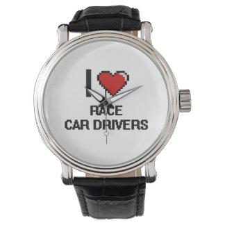 Amo conductores de coche de carreras relojes