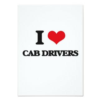 Amo conductores de taxi invitación 12,7 x 17,8 cm