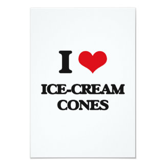 Amo conos de helado invitación 8,9 x 12,7 cm