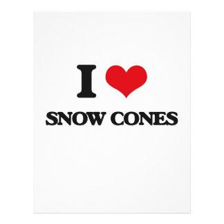 Amo conos de la nieve folleto 21,6 x 28 cm