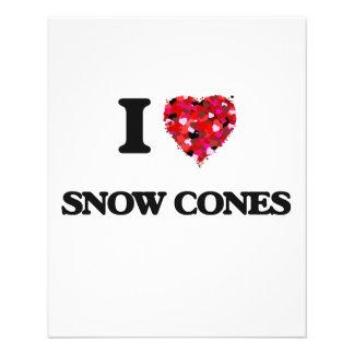 Amo conos de la nieve folleto 11,4 x 14,2 cm