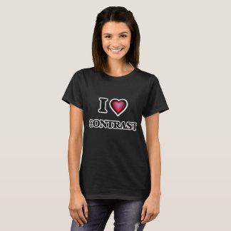 Amo contraste camiseta