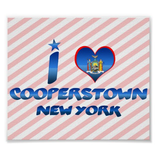 Amo Cooperstown, Nueva York Posters