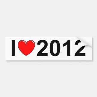 Amo (corazón) 2012 pegatina de parachoque