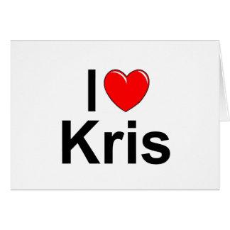 Amo (corazón) a Kris Tarjeta