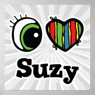 Amo (corazón) a Suzy Póster