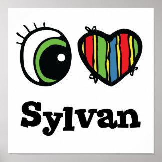 Amo (corazón) a Sylvan Póster
