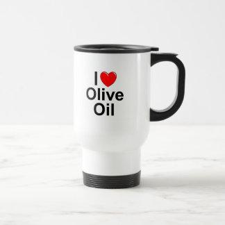 Amo (corazón) el aceite de oliva taza de viaje