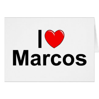 Amo (corazón) Marcos Felicitación