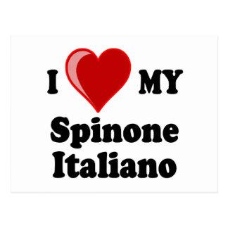 Amo (corazón) mi perro de Spinone Italiano Tarjetas Postales