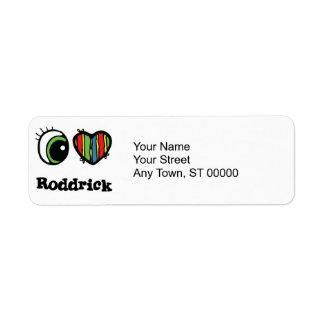 Amo (corazón) Roddrick Etiquetas De Remite