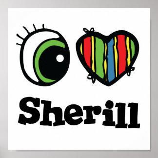 Amo (corazón) Sherill Póster