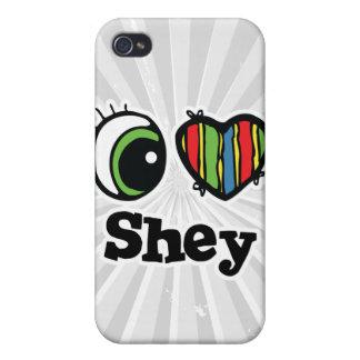 Amo (corazón) Shey iPhone 4 Protector