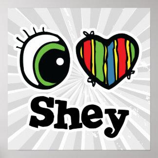 Amo (corazón) Shey Póster