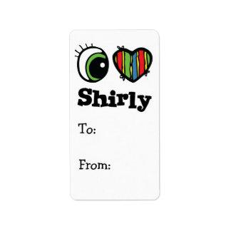 Amo (corazón) Shirly Etiquetas De Dirección