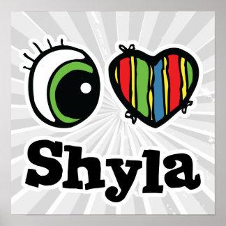 Amo (corazón) Shyla Póster