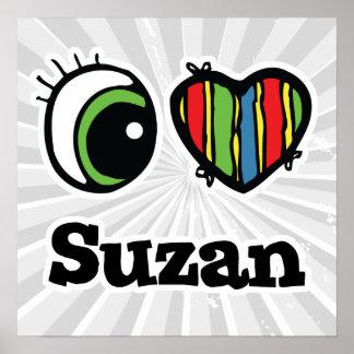 Amo (corazón) Suzan Póster