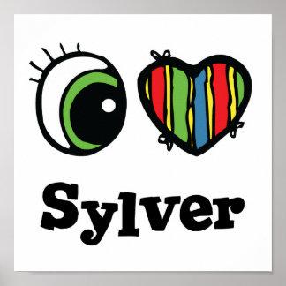 Amo (corazón) Sylver Póster