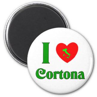 Amo Cortona Italia Imán Redondo 5 Cm