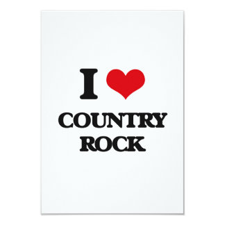 Amo COUNTRY ROCK Invitación 8,9 X 12,7 Cm